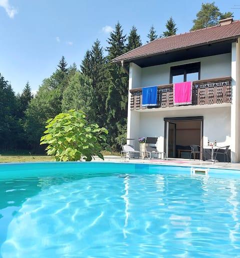 Privater Pool im Ferienhaus Lily