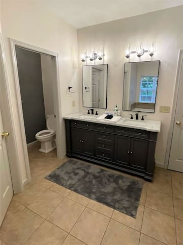 Master bath with private water closet