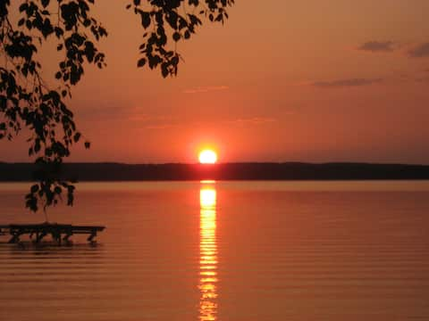 Majestic Sunsets at Beautiful Mullet Lake Home!