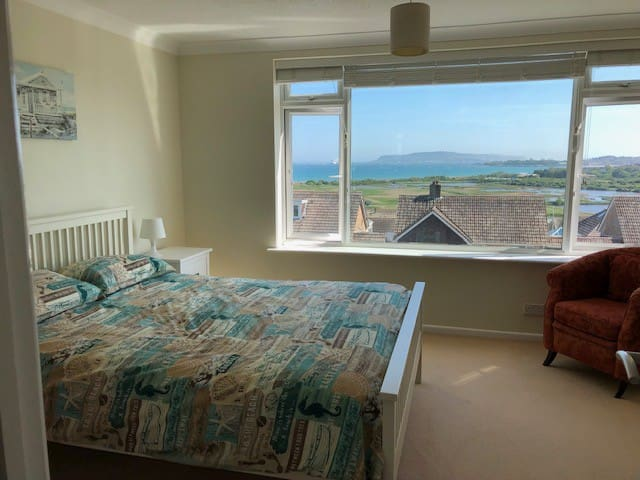 Views of Weymouth Bay and Portland from Bedroom 1