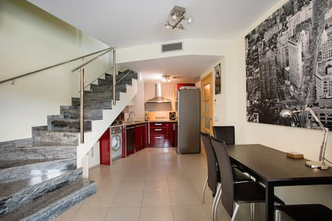 A duplex 200 meters from one of the best beaches
