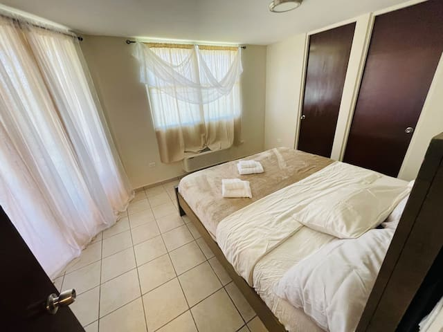 Master Bedroom: King Bed, Private Full Bathroom, Private Balcony, Walk-in Closet, Air Conditioning