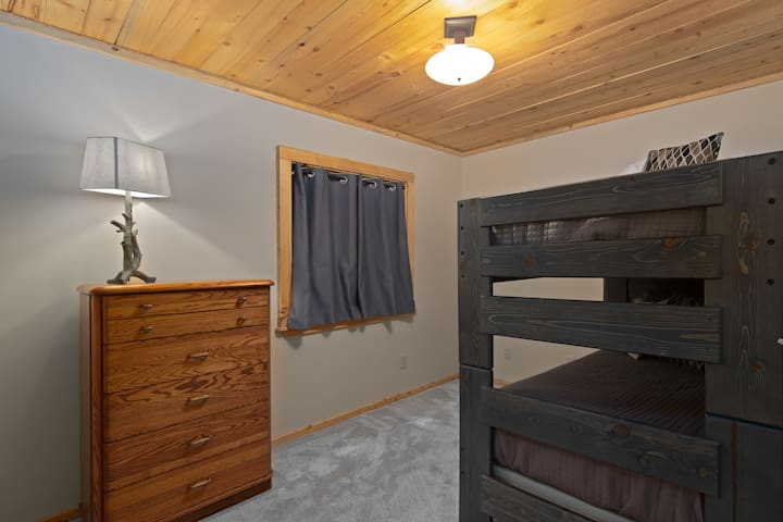 Two Twin Bedroom, the beds have been separated so they are both floor level, no climbing!