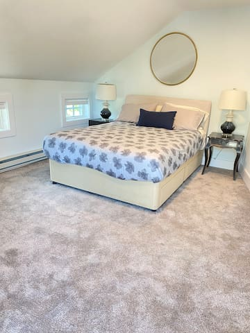Second Bedroom with Queen bed, desk and outdoor patio