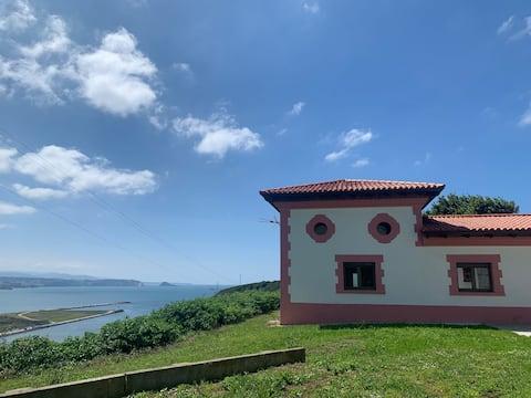 Spektakularne widoki w Casa Lin, Gozón(Asturia)