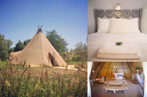 Giant Tipi experience - UNIQUE POP-UP GLAMPING