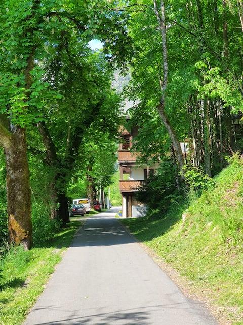 zwischen Fluss und Berg -Wohnung im Chaletstil