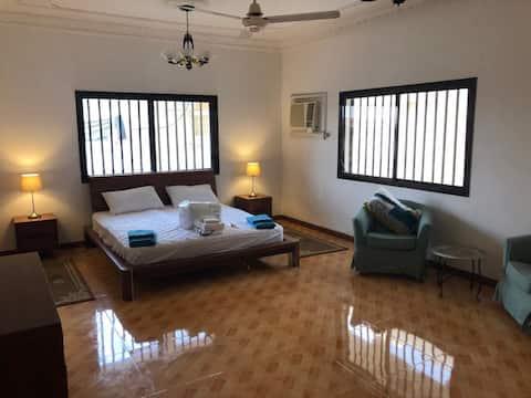 Spacious double bed in a unique villa. Malaga