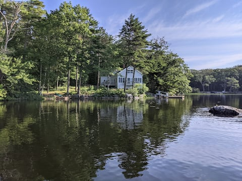Waterfront home on beautiful Biscay Pond in Maine