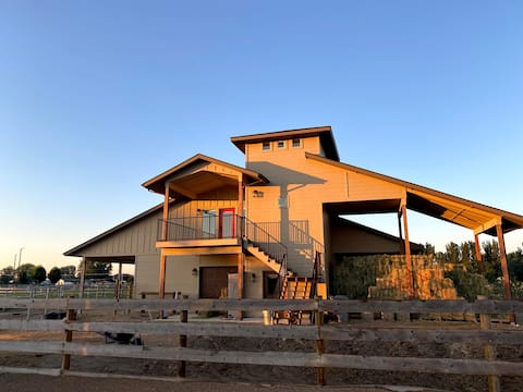 Modern barn loft in peaceful rural setting