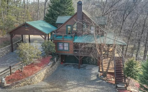 Fisherman's dream! Log Cabin on the Toccoa River