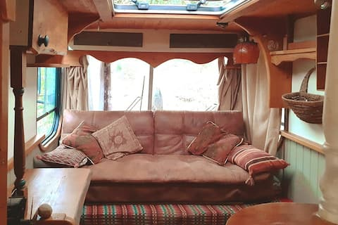 """Bubble"" - Bohemian bus in rural homestead setting"