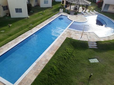 condomínio paraíso de Maracajaú IV , beira mar .
