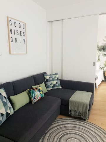 Sofa can be converted in a comfy sofa Bed