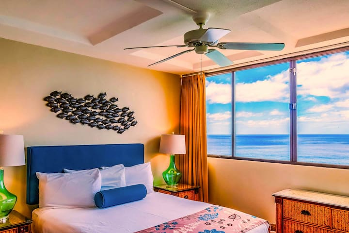 Comfy Queen Bed! - Hawaiian Princess at Makaha