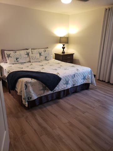 Master Bedroom Upstairs With A King Bed