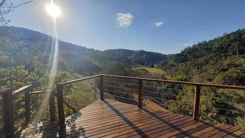 Cabana da árvore - Hidro e vista magnífica