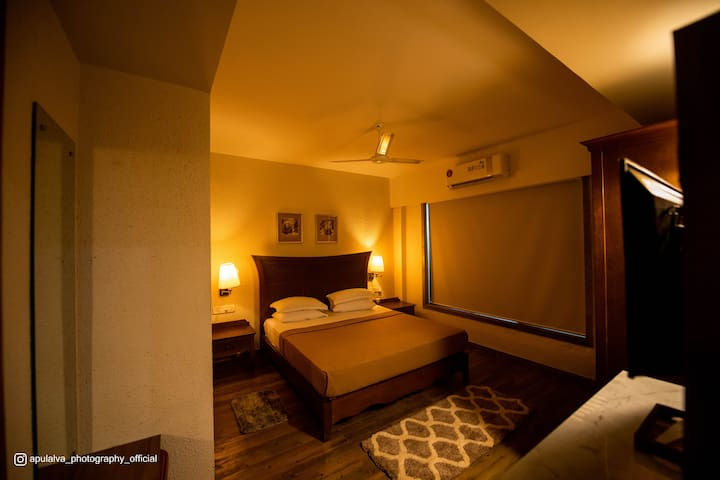 Bedroom: 1. 2 air-conditioned bedrooms. 2. Wifi connectivity with 2 separate routers in the bedrooms 3. Complementary OTT services on the TV in each bedroom 4. Attached are modern bathrooms with 24 hrs hot water supply.