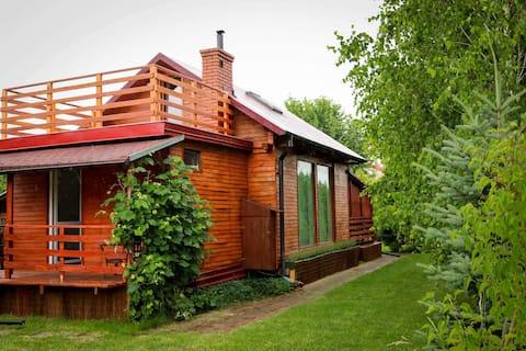 Uroczy drewniany domek Na Cichej • Sandomierz