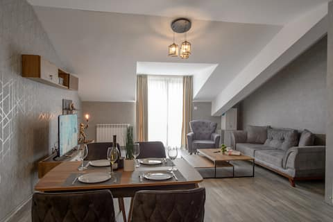 Luxury 2-bedroom apartment by Studenets Center
