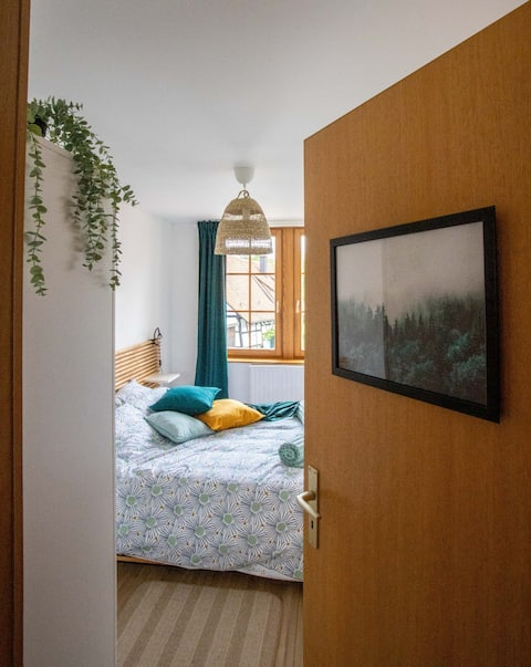 Cosy apt fully equipped 3 bedrooms Basel border