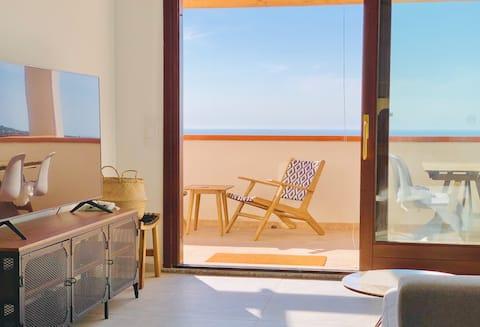 Apartamento en la playa (The Wave), vista al mar