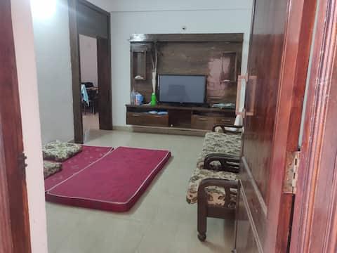 Well furnished 3-BHK flat.