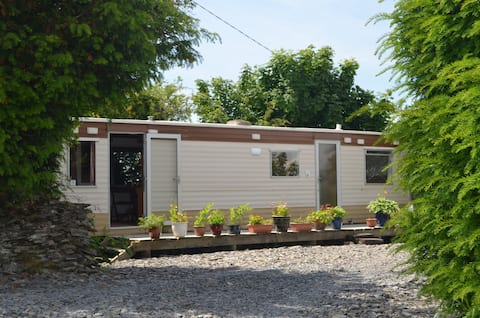 Secluded holiday caravan in stunning countryside.
