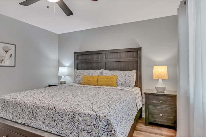 The second bedroom also features a king bedroom for a comfy nights sleep!