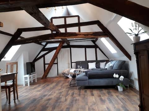 Historische Fachwerk-Wohnung im Stadtkern von Lich
