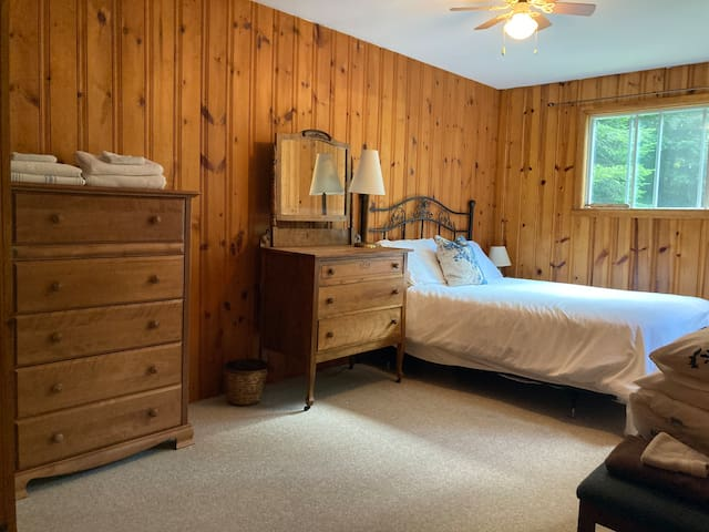 Larger bedroom where a single bed can be set up for additional sleeping.