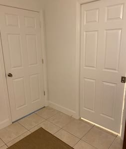 """BR #1 has 36"""" door for entry both to bedroom and bathroom."""