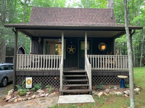 Peaceful cabin on ridge - close to river