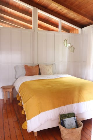 Enjoy our cozy queen-size mattress.