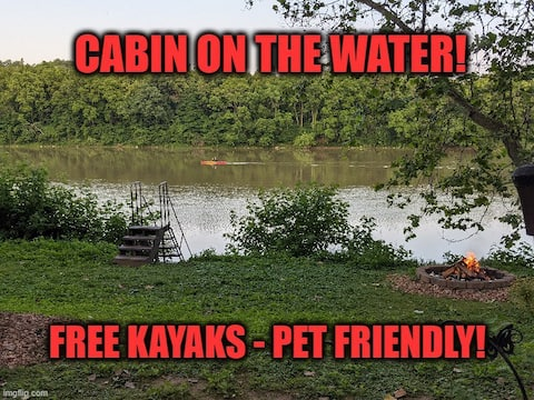 Small Secluded Cabin on the River with Free Kayaks