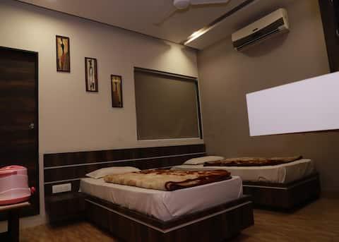 Stay in Darshan hotel