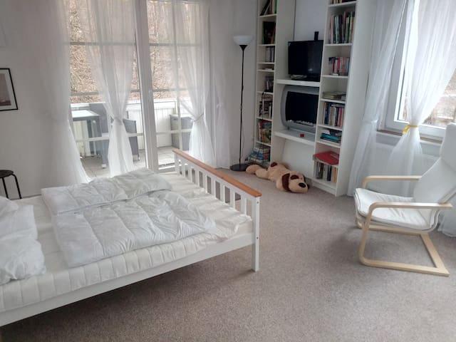 Schlafzimmer OG links mit Balkon