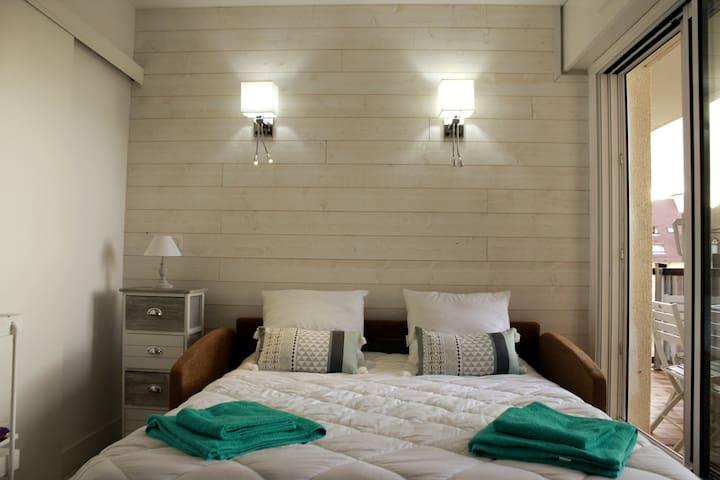 Studio - couchage du canapé lit