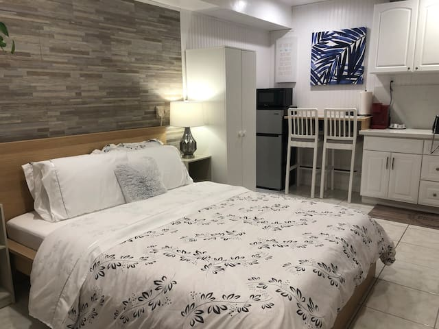 Cozy, warm , precious bedroom with dinning /working table