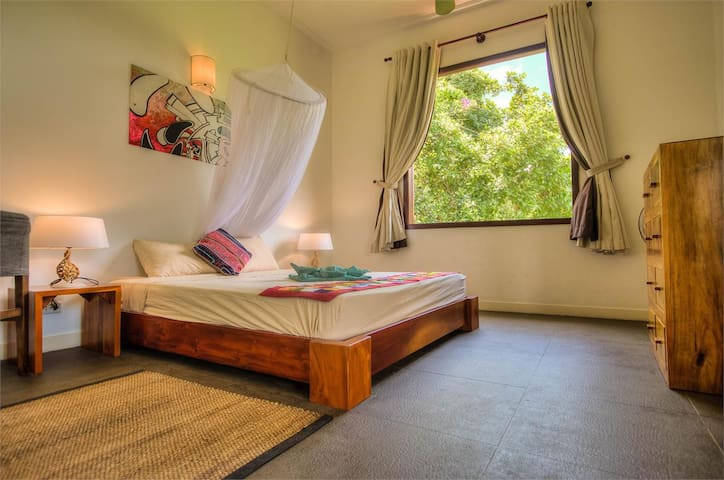 upstairs bedroom with countryside view