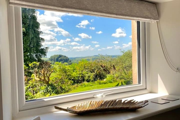 Bedroom with a view across the valley