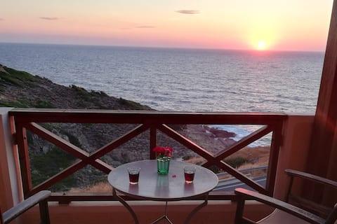 Vathipotamia: 3-bed apt with amazing sea view