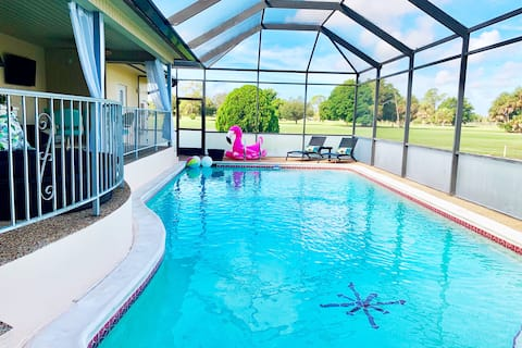 Private Oasis w/ Big Pool on Golf Course~sleeps 10