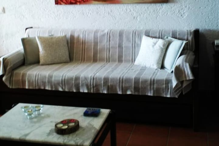 Sofa-bed in the living-room, that can sleep a 5th person.