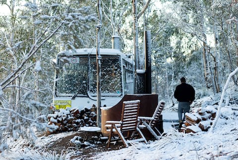 Huntingdon Tier Forest Retreat – Bus & Hot Tub