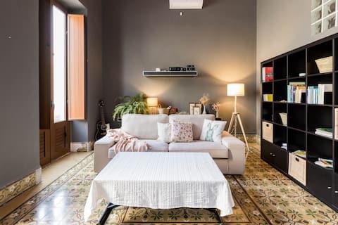 Chambre + terrasse, près des plages de las Palmas