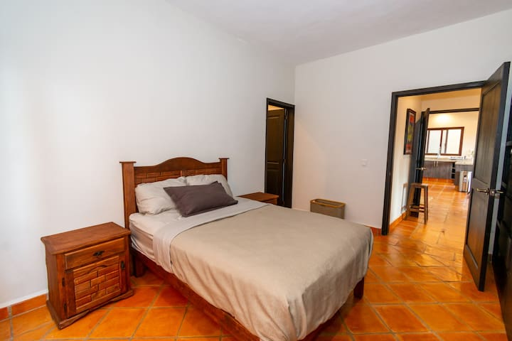 Room 2 with double bed and private bathroom
