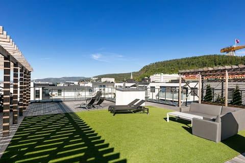 Moderne leilighet midt i Drammen sentrum