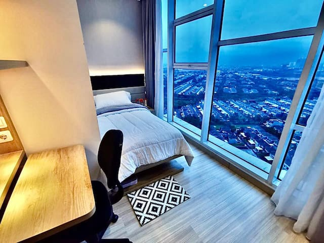 Bedroom #2 with a panoramic view