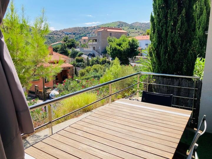 Magnifique T2 grande terrasse VUE MER /Wifi/clim